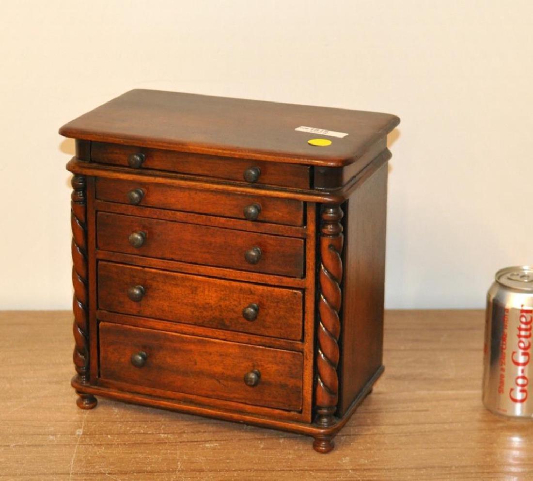 Miniature Regency Style Mahogany Chest