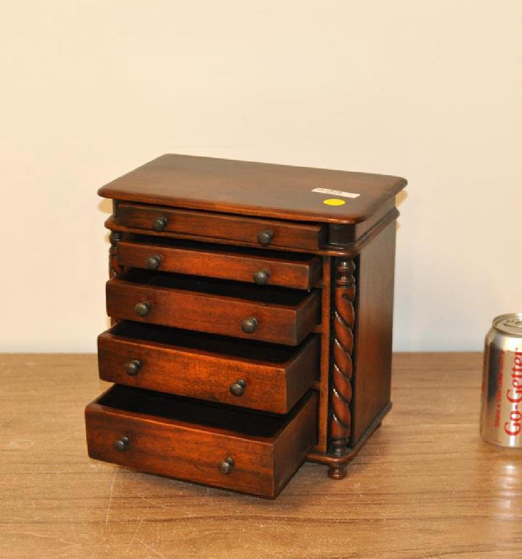 Miniature Regency Style Mahogany Chest - 2
