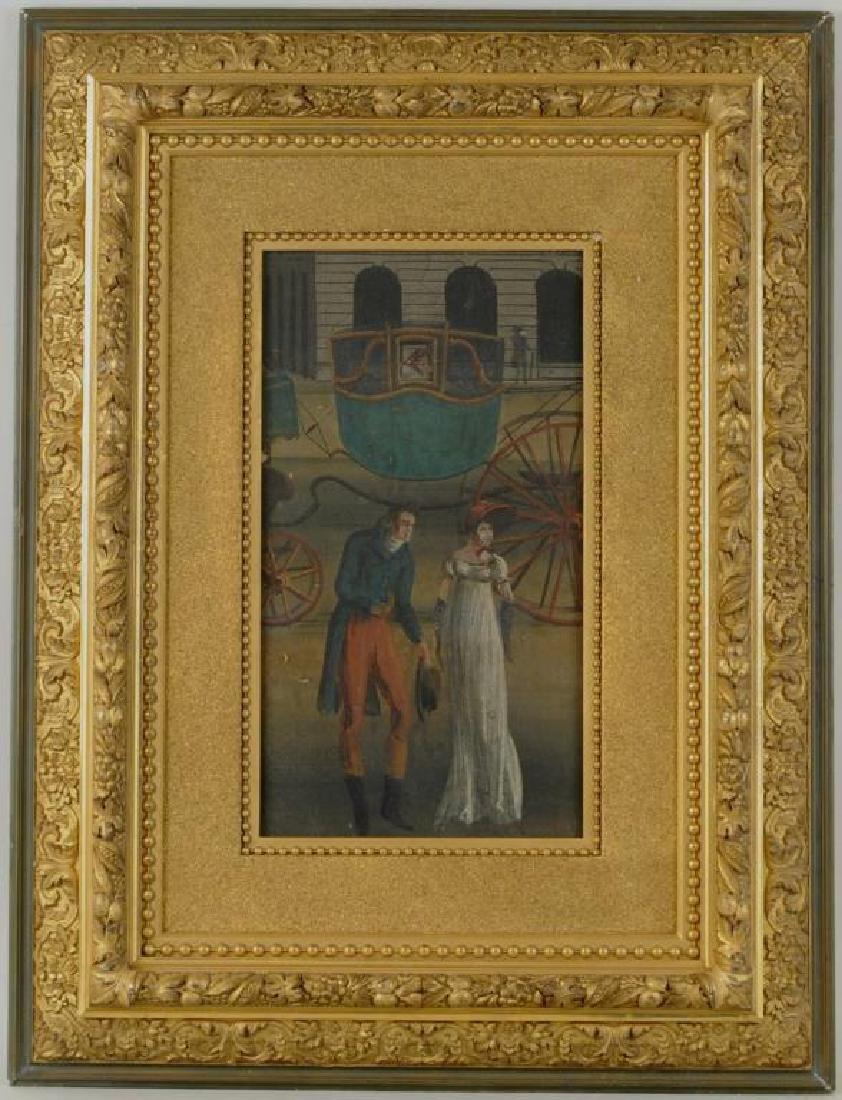 Framed 19th C. Zuber Wallpaper Fragment