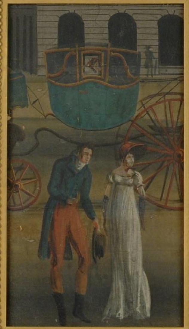Framed 19th C. Zuber Wallpaper Fragment - 3