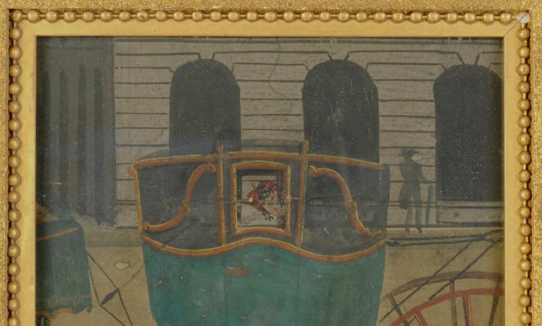 Framed 19th C. Zuber Wallpaper Fragment - 4