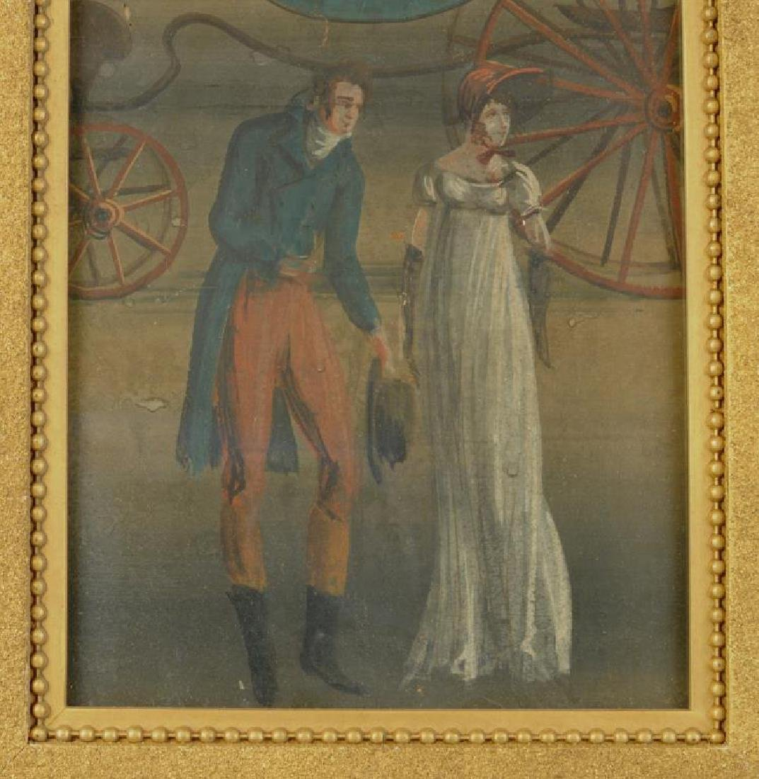 Framed 19th C. Zuber Wallpaper Fragment - 5