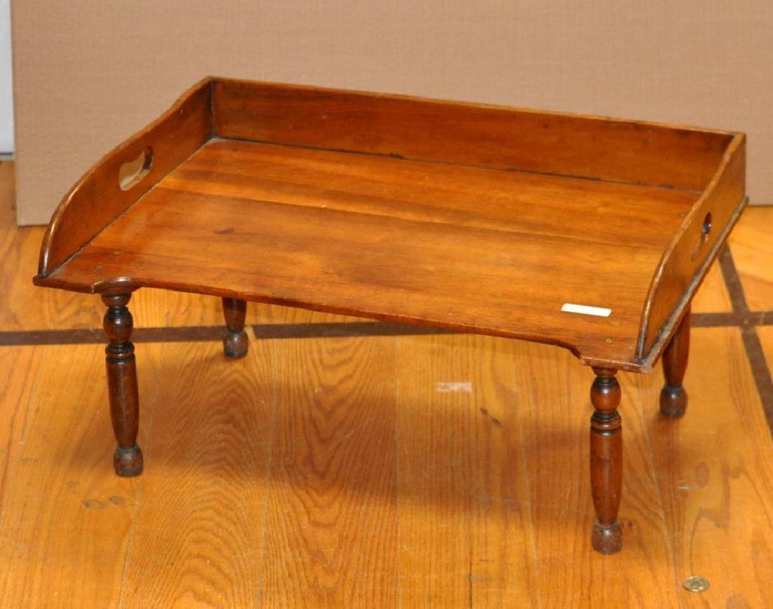 Early Sheraton Walnut Bed Tray
