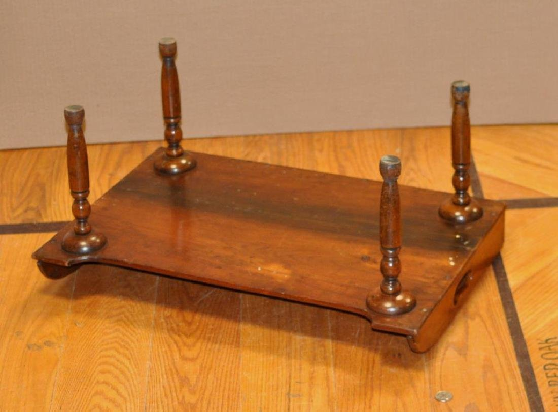 Early Sheraton Walnut Bed Tray - 2