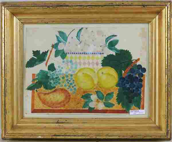 American Folk Art Theorem Of Fruit