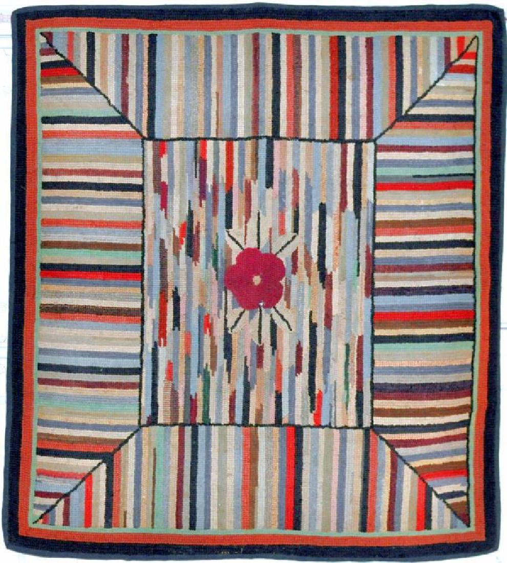 Hooked Striped Rug
