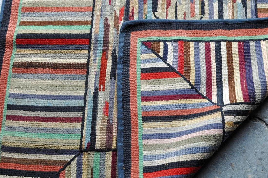 Hooked Striped Rug - 2