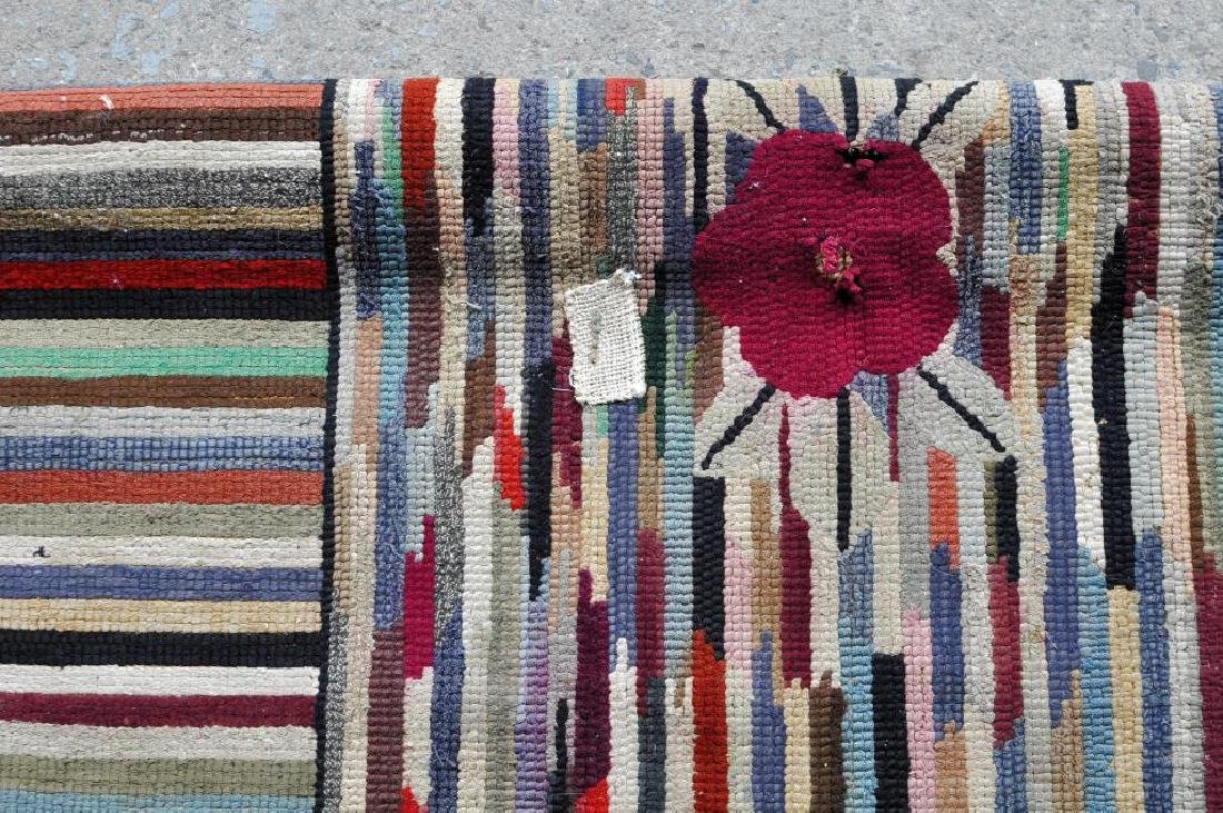 Hooked Striped Rug - 3