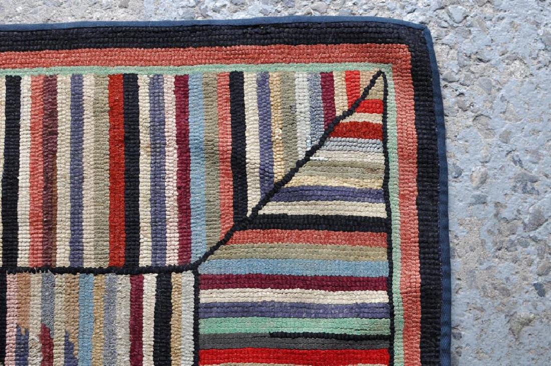 Hooked Striped Rug - 4
