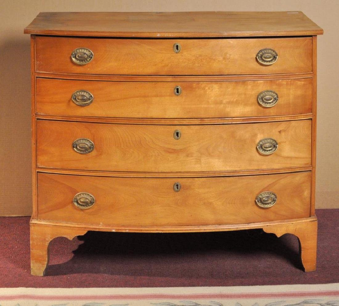 Chippendale Birch Bow Front Chest - 2