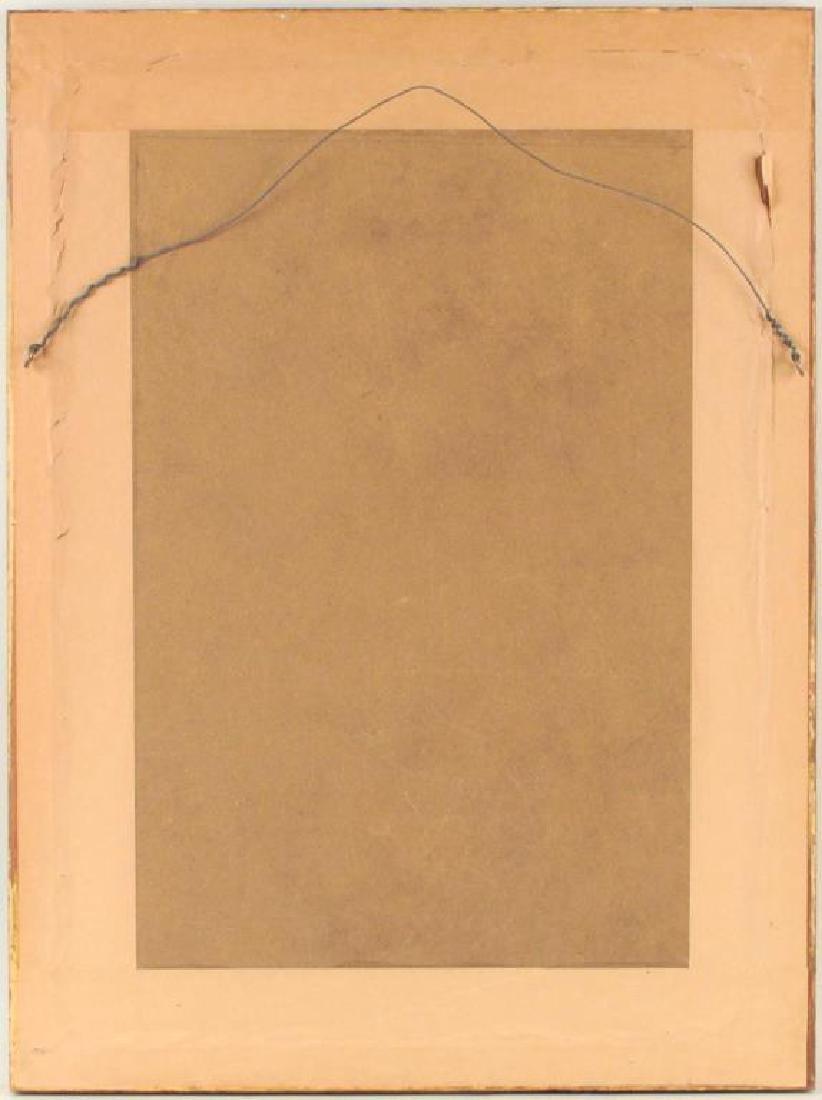 Large Vintage Framed Crewelwork Sampler - 2