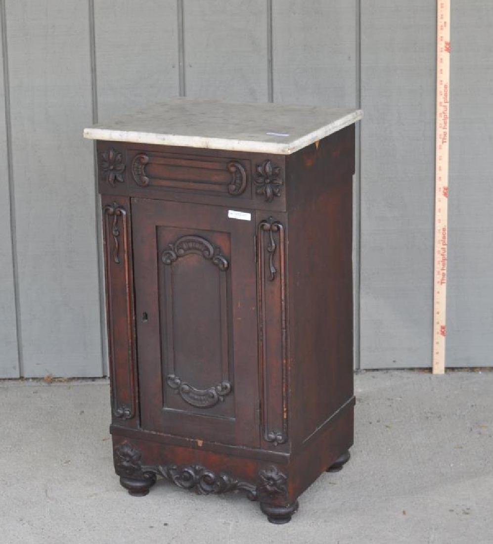 Late Classical Mahogany Cupboard, Marble Top