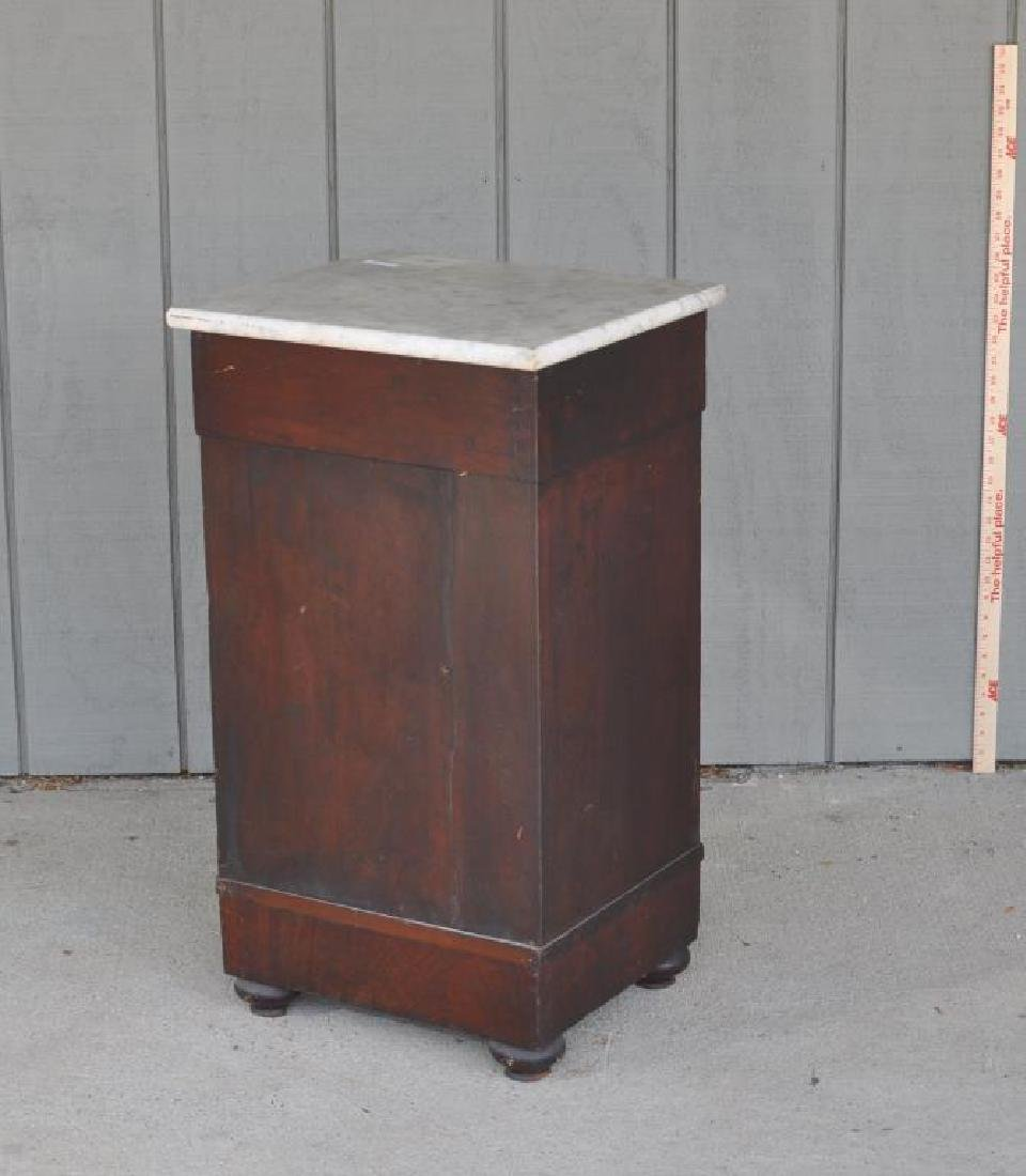 Late Classical Mahogany Cupboard, Marble Top - 3