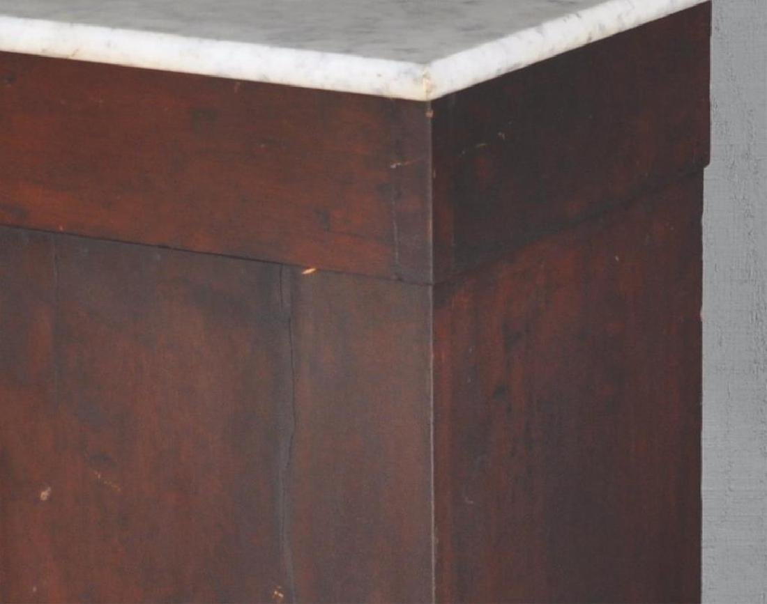 Late Classical Mahogany Cupboard, Marble Top - 5