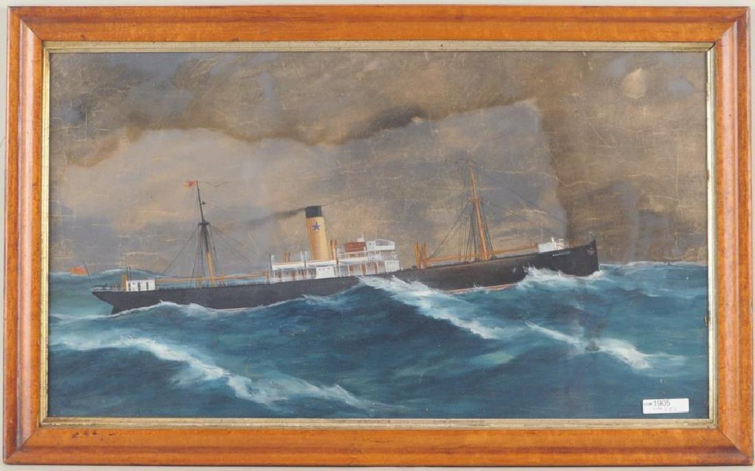 Steamship Brodliffe, Gouache/Paper