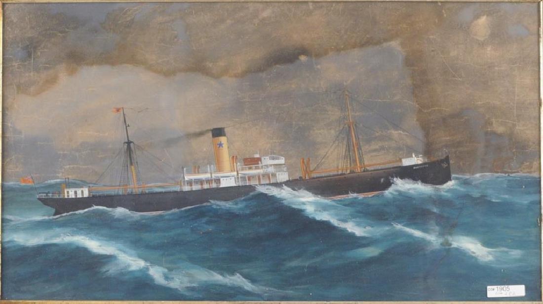 Steamship Brodliffe, Gouache/Paper - 3