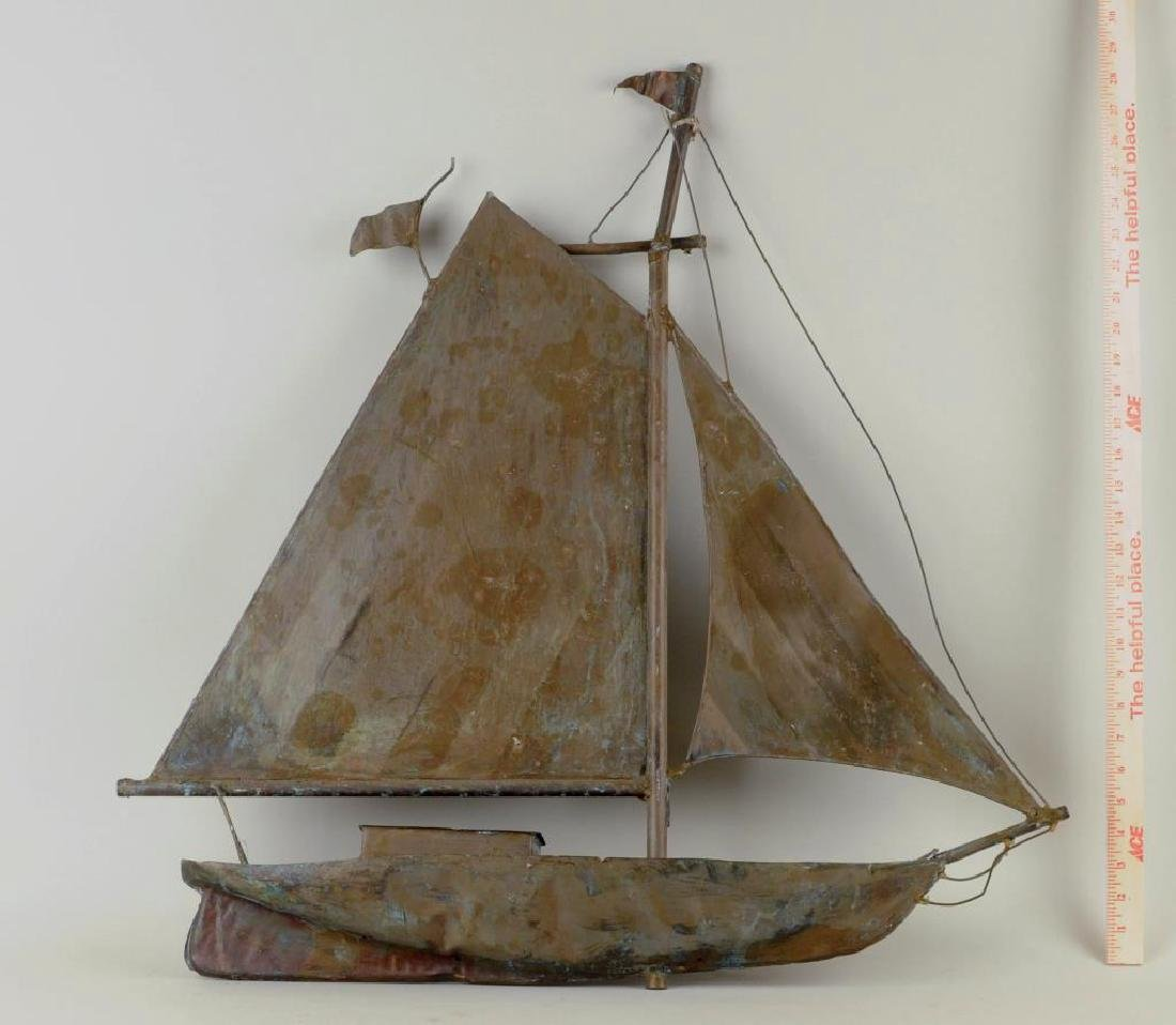 """Sailboat Weathervane """"Washburn"""" - 2"""