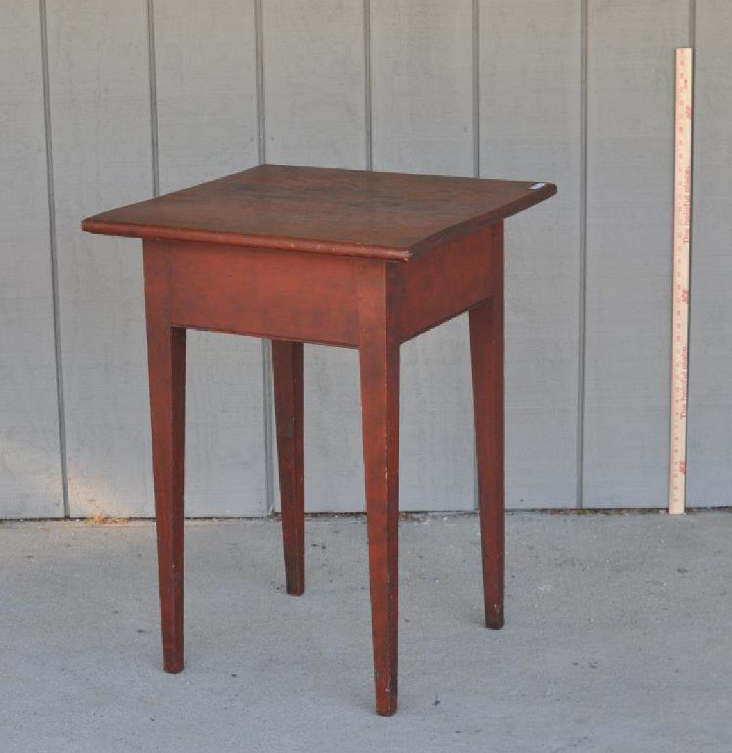 American Pine Stand In Red Stain