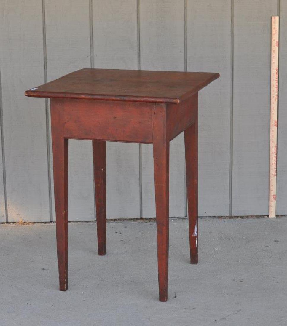 American Pine Stand In Red Stain - 2