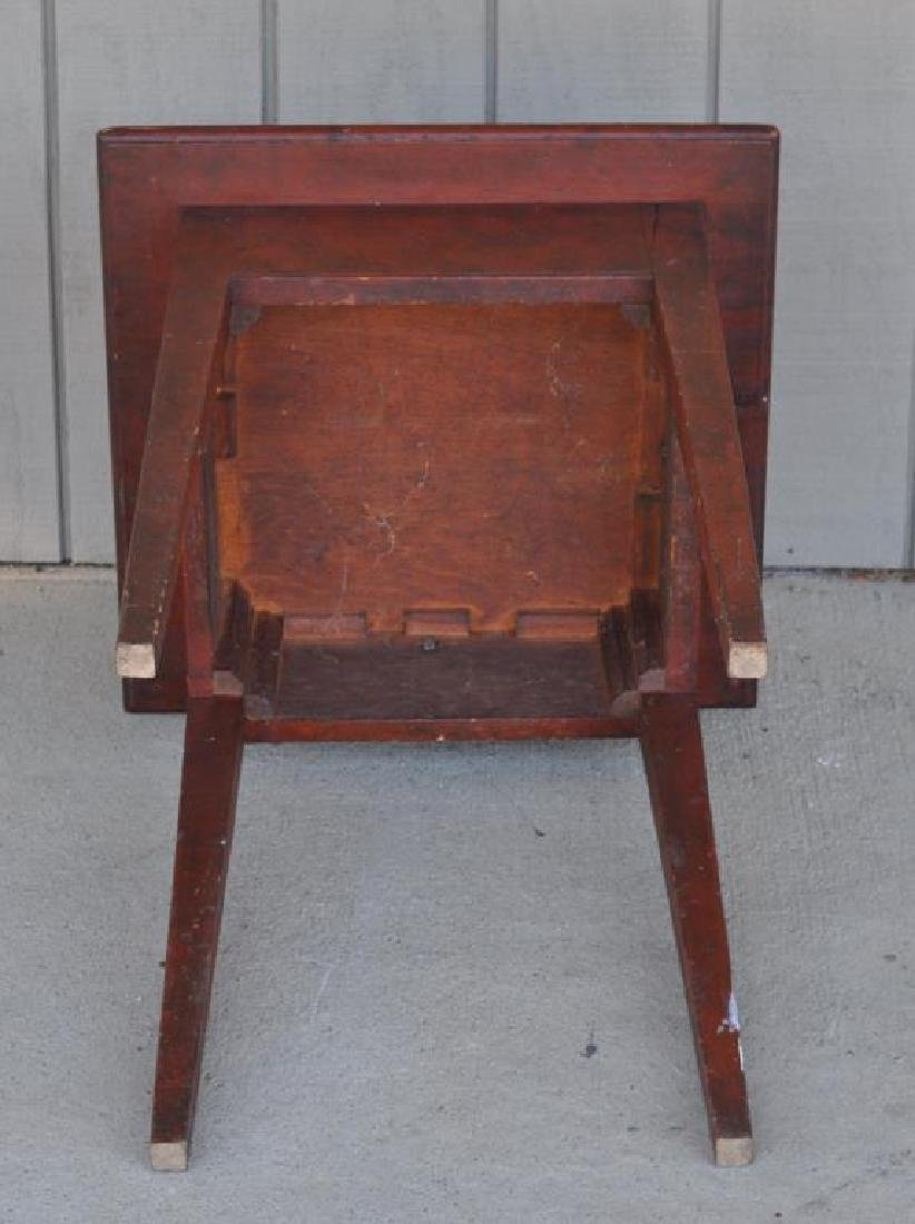 American Pine Stand In Red Stain - 3