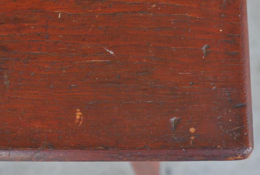 American Pine Stand In Red Stain - 4