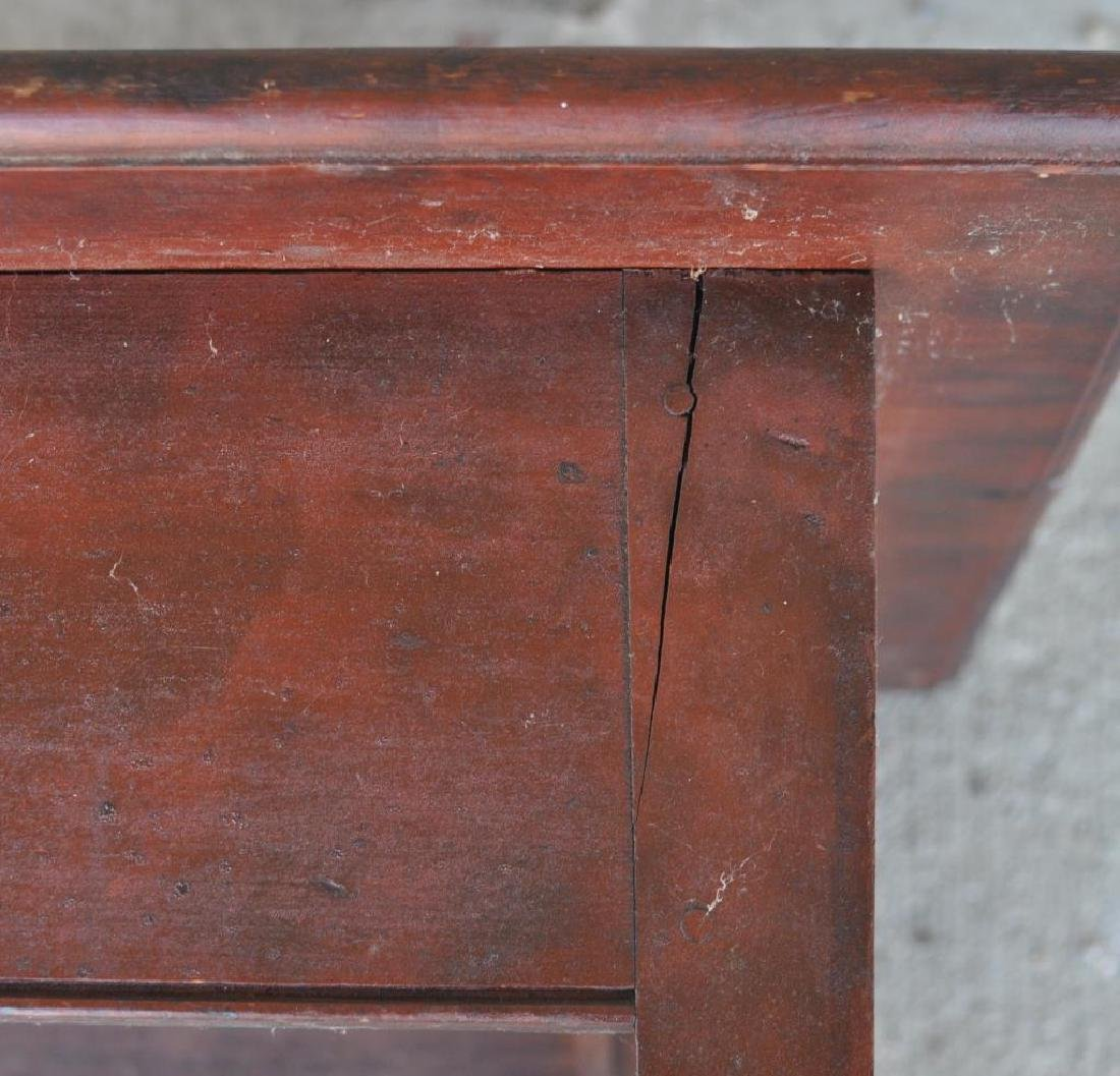American Pine Stand In Red Stain - 5