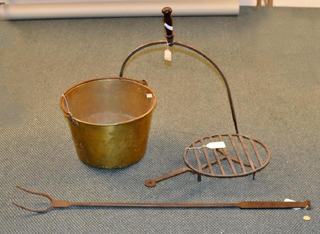 Group Of Early Kitchen & Hearth Items