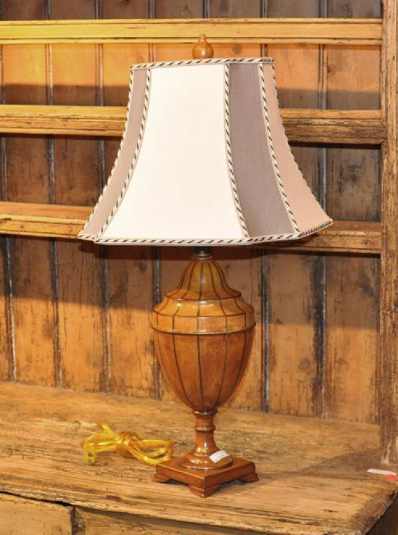 Painted Wood Neoclassical Style Urn Form Lamp