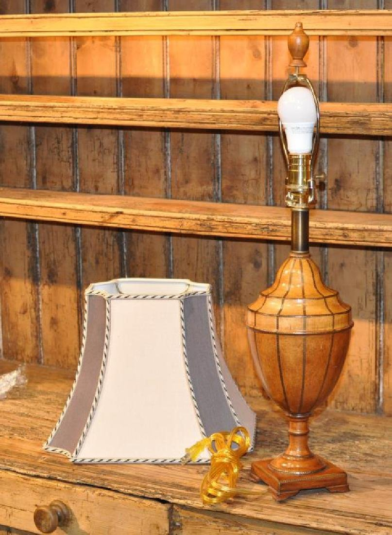 Painted Wood Neoclassical Style Urn Form Lamp - 2