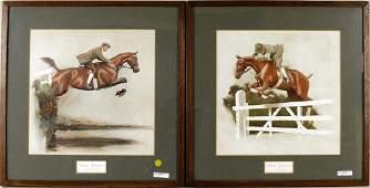 Two Framed Cecil Alden Equestrian Prints