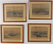 Group Four Eastern Framed Equestrian Prints