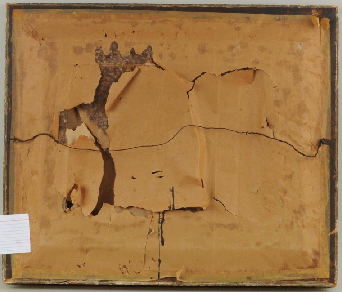"Folk Art Painting ""Basket Of Peaches"" O/C - 2"