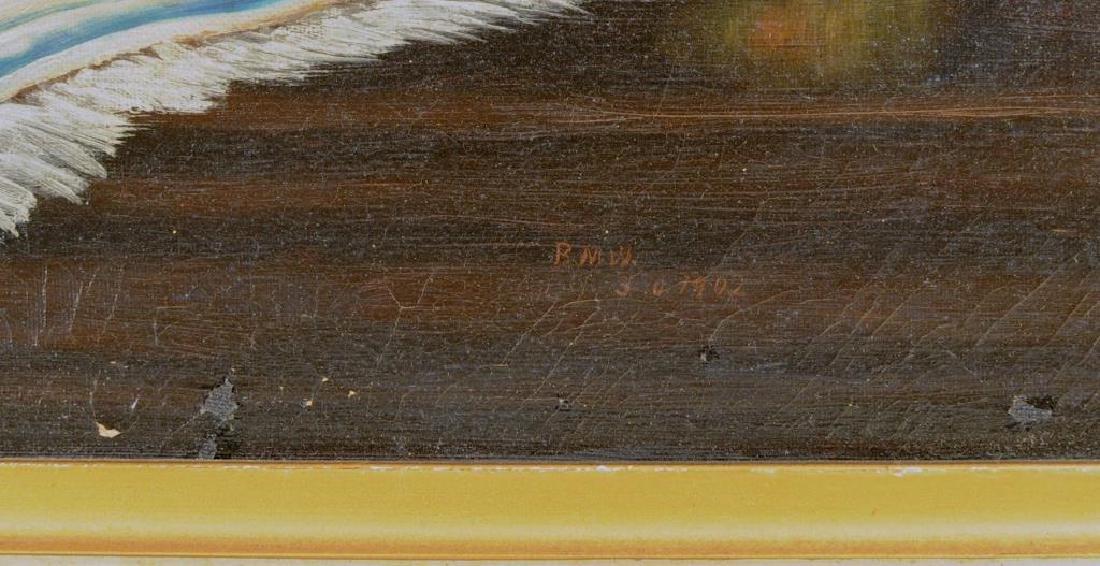 "Folk Art Painting ""Basket Of Peaches"" O/C - 4"