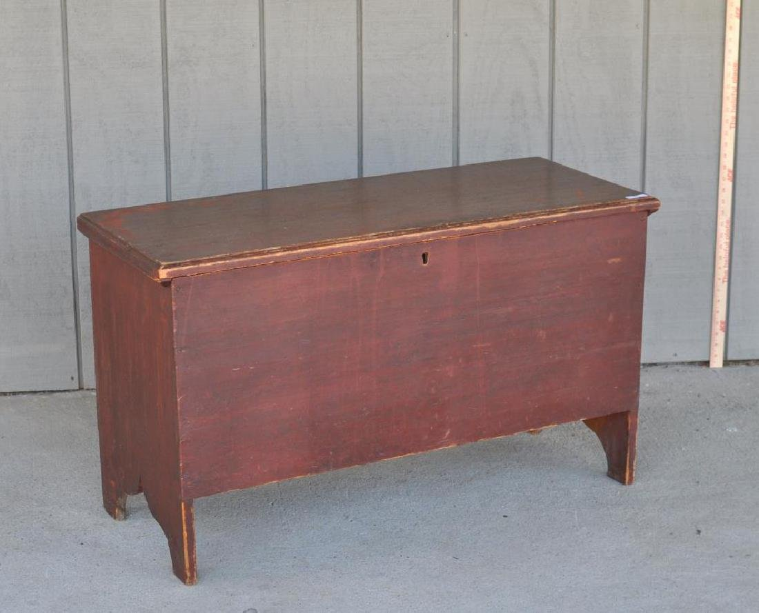 American Country Red Painted Blanket Chest