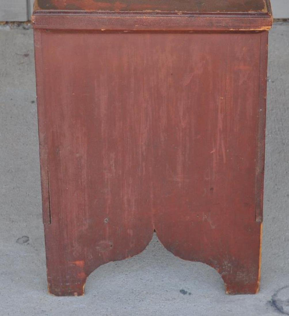 American Country Red Painted Blanket Chest - 4
