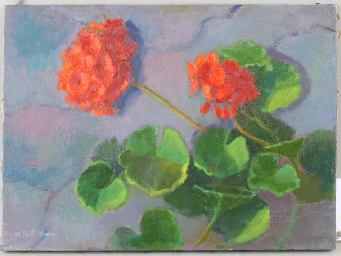 """Geraniums"" Oil on Canvas"
