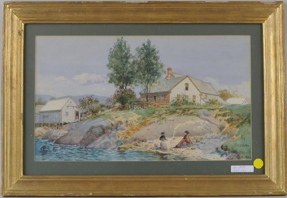 "Philip A. Butler, ""House by Lake"""