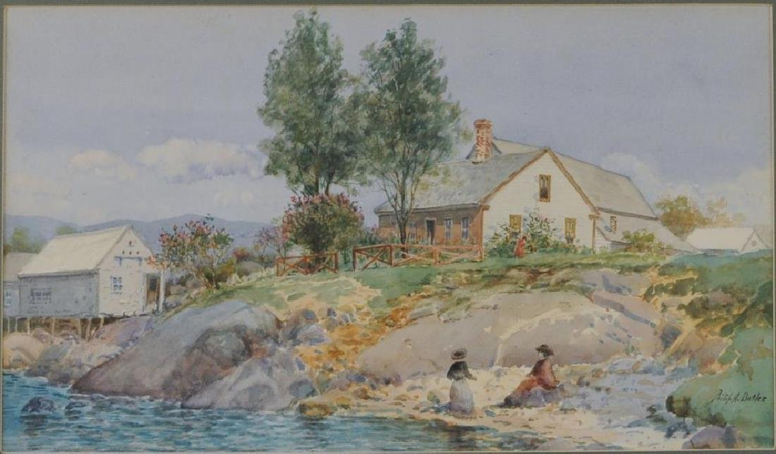 "Philip A. Butler, ""House by Lake"" - 3"