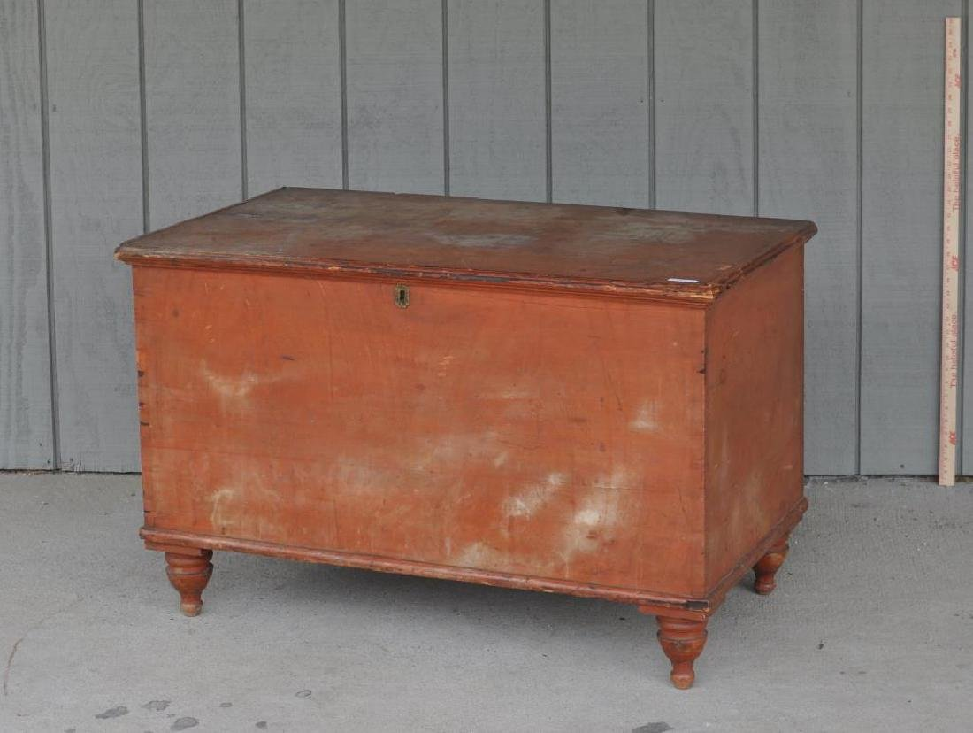 Pennsylvania Six Board Chest In Pumpkin Paint