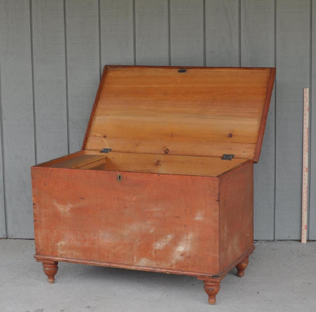 Pennsylvania Six Board Chest In Pumpkin Paint - 2