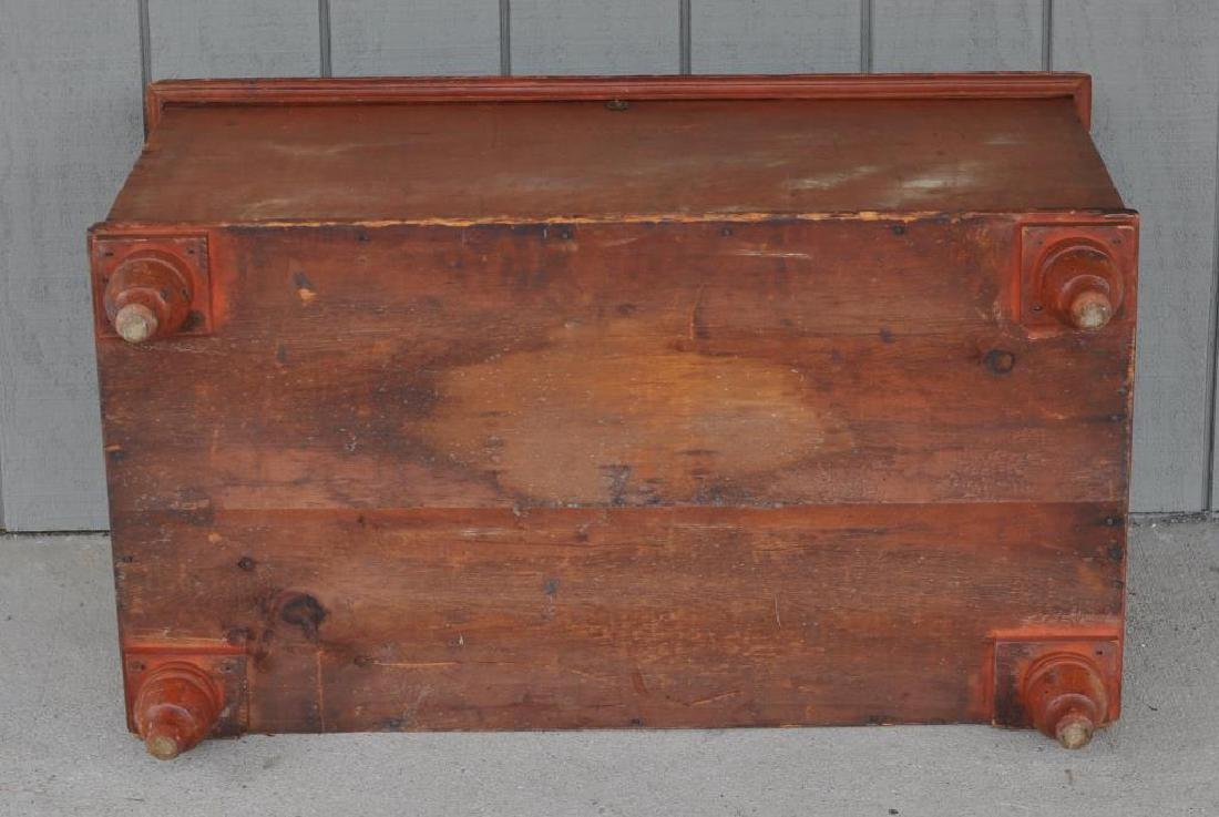 Pennsylvania Six Board Chest In Pumpkin Paint - 4