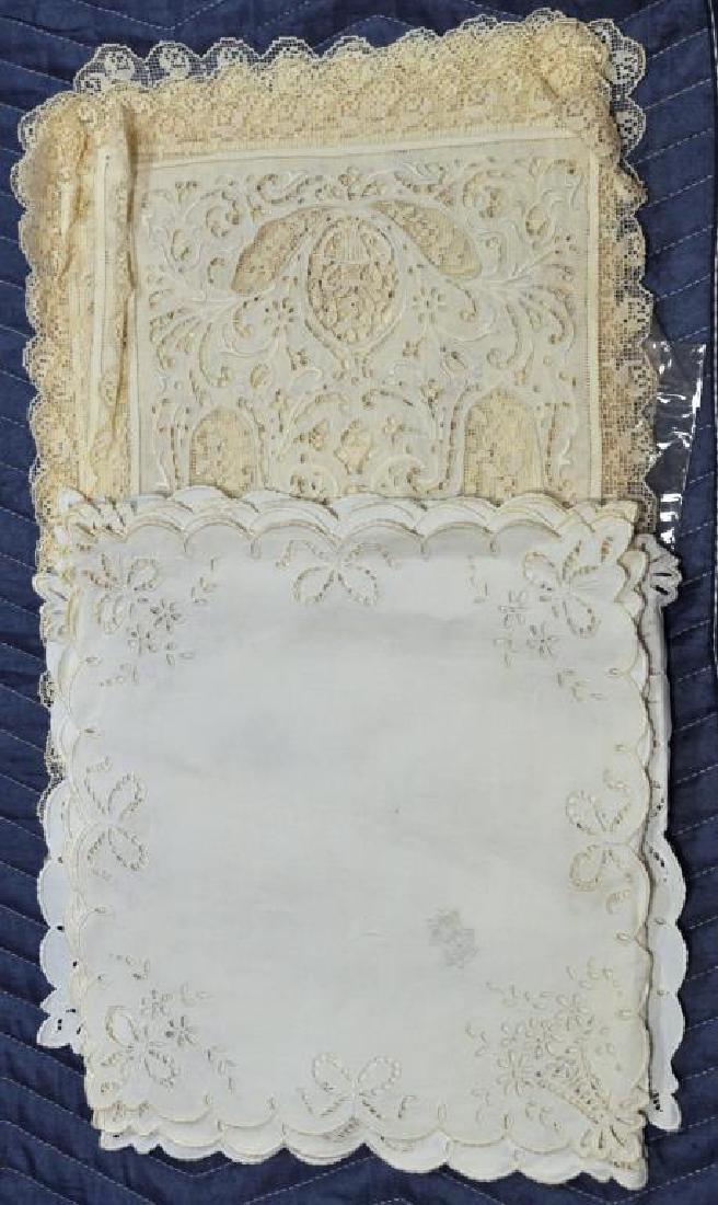 Group Lace Linen & Damask Tablecloths - 4