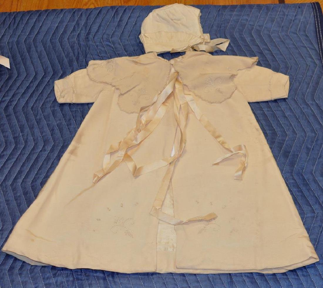 Group Vintage Silk, Linen & Lace Baby Clothing - 2