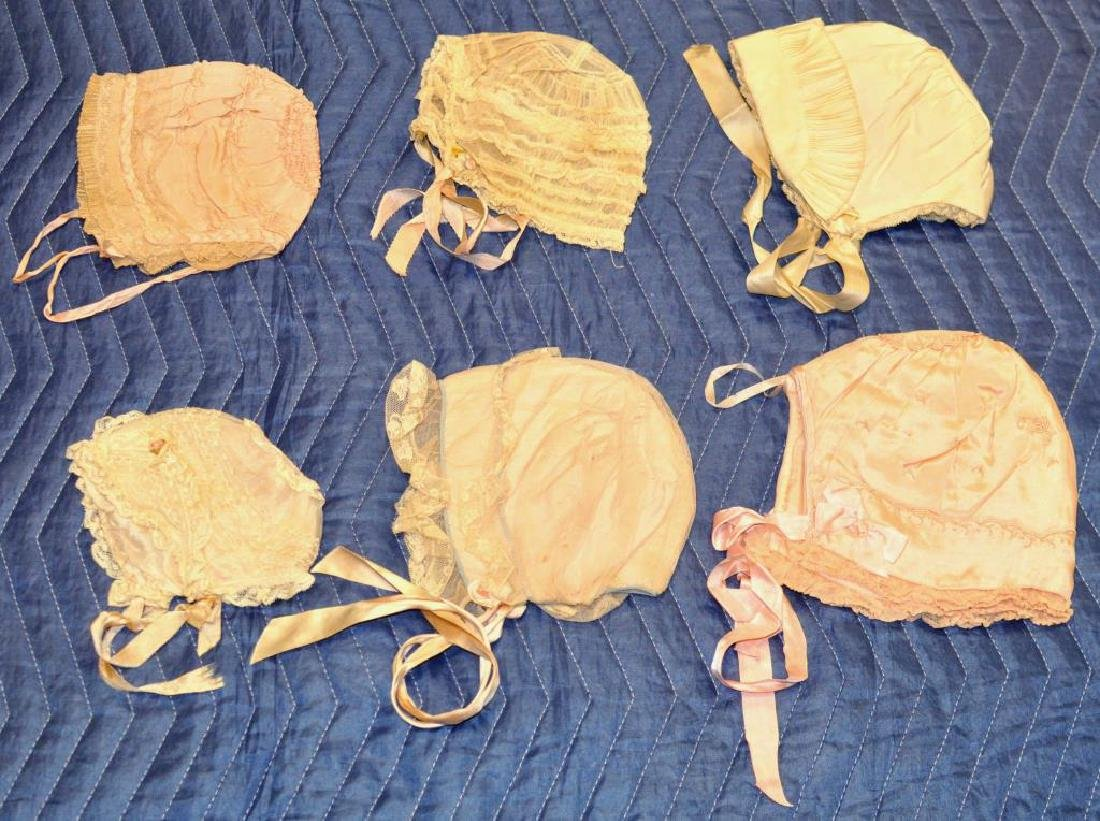 Group Vintage Silk, Linen & Lace Baby Clothing - 4