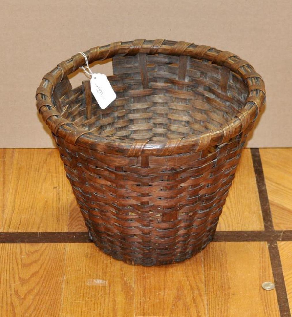Large Woven Splint Handled Basket
