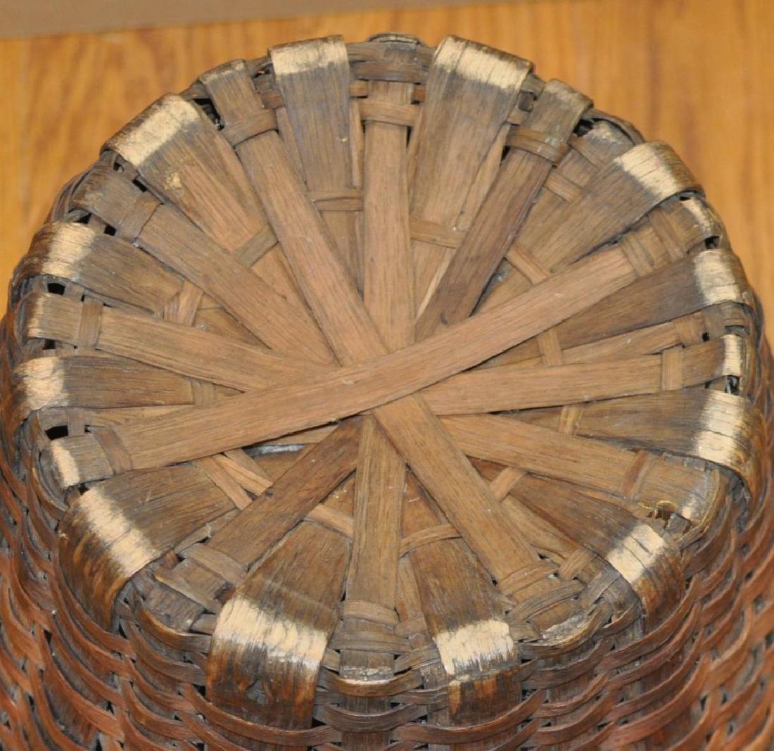 Large Woven Splint Handled Basket - 3