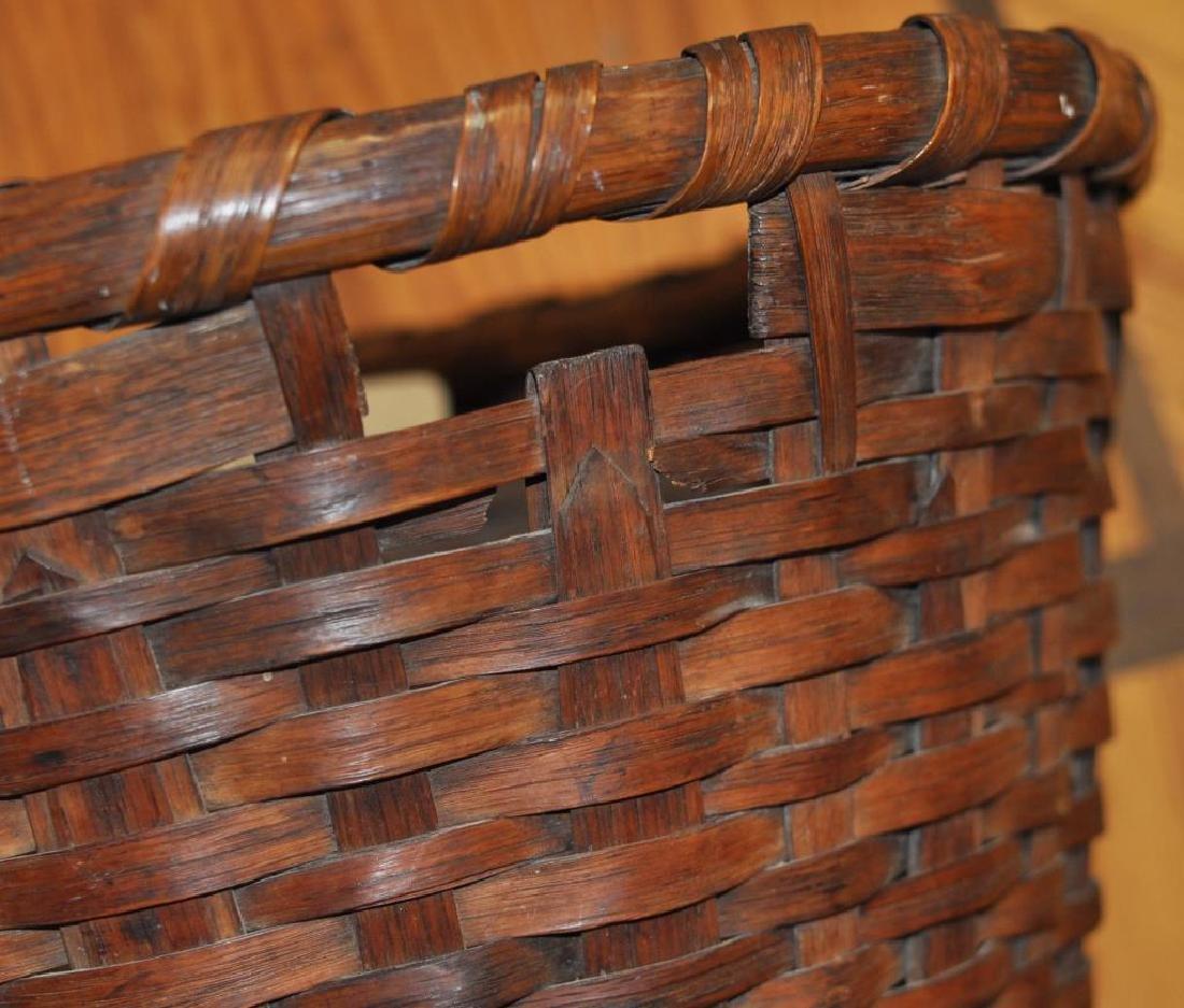 Large Woven Splint Handled Basket - 4