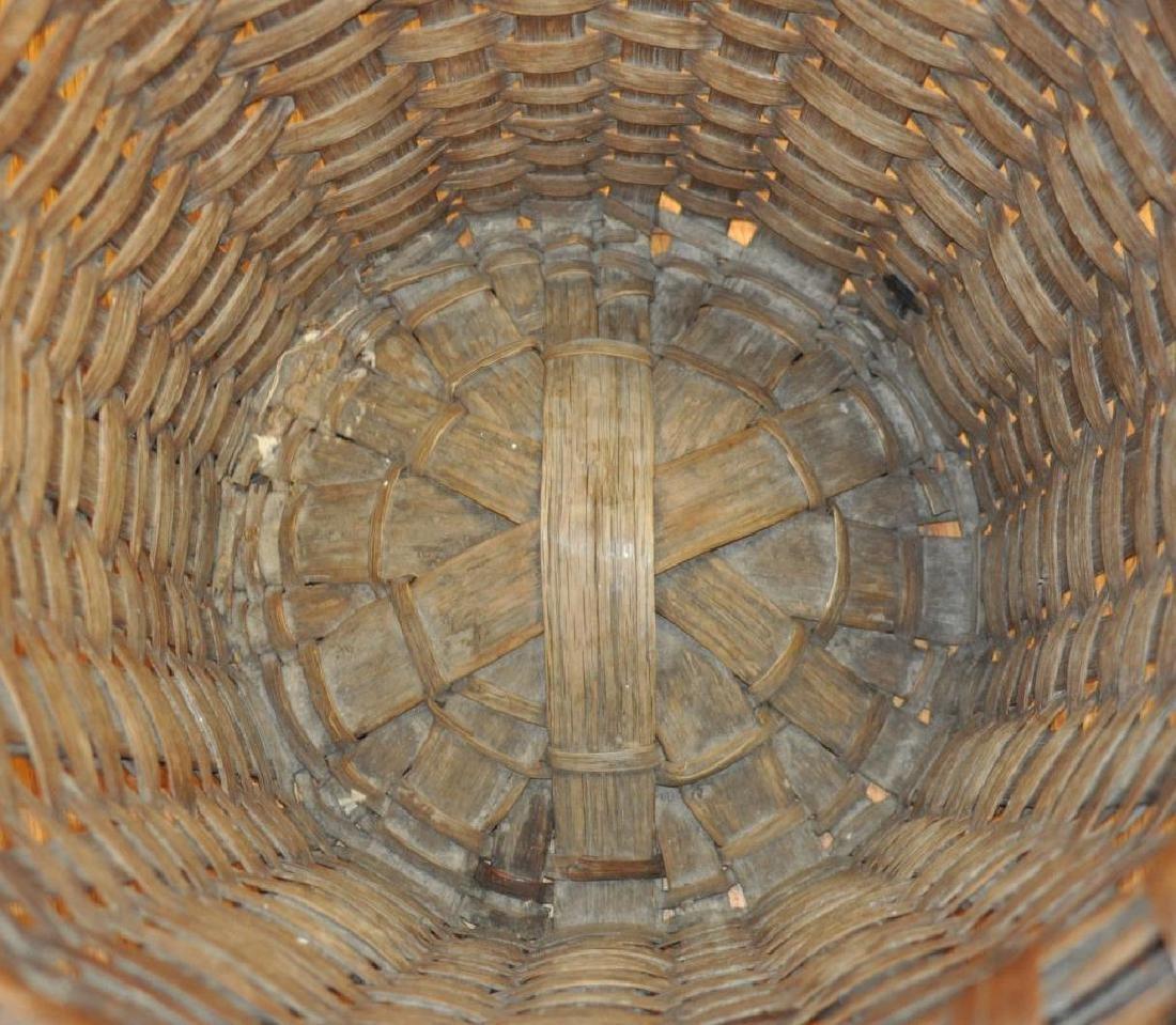 Large Woven Splint Handled Basket - 5