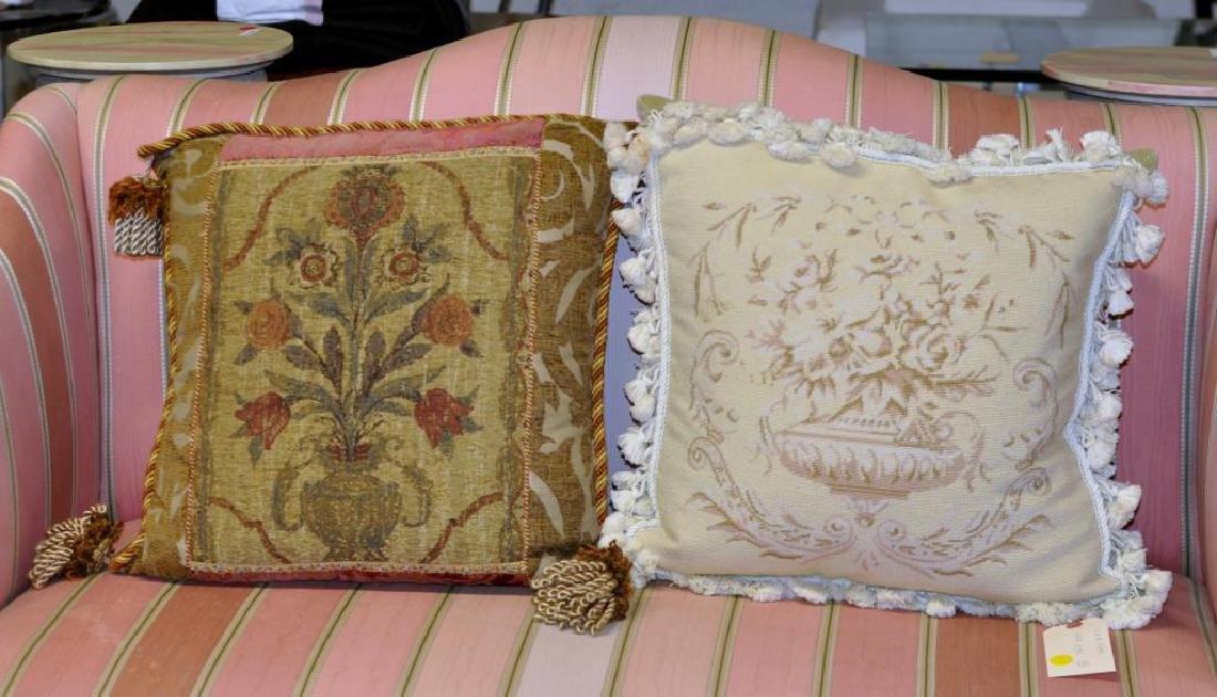 Four Needlepoint Throw Pillows - 2