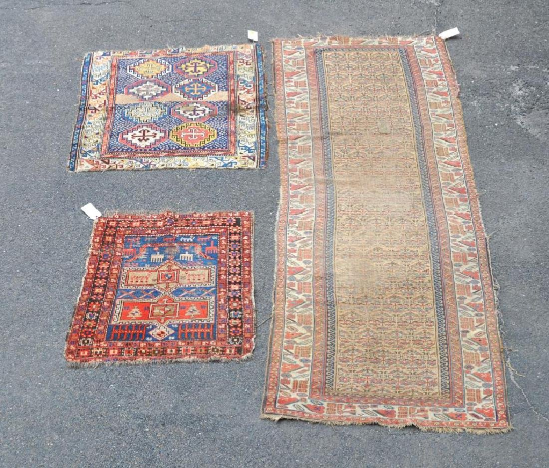 Three Caucasian Rugs